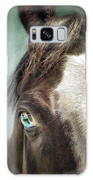 Blue Eyes Galaxy Case by Debby Herold