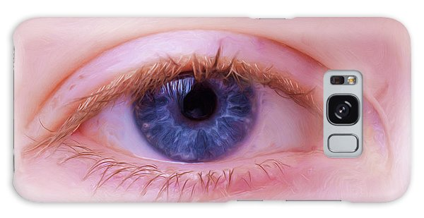 Galaxy Case featuring the painting Blue Eyes by Harry Warrick