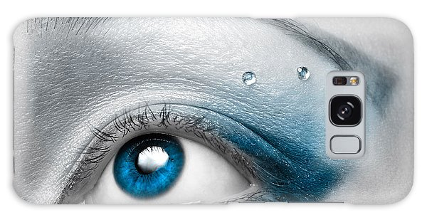 Colour Galaxy Case - Blue Female Eye Macro With Artistic Make-up by Maxim Images Prints