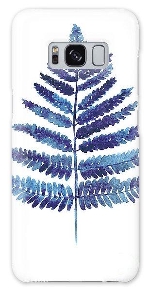 Garden Galaxy S8 Case - Blue Ferns Watercolor Art Print Painting by Joanna Szmerdt
