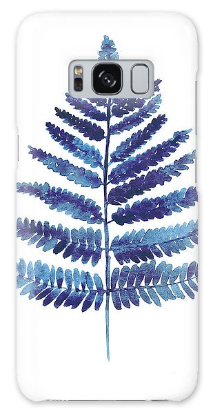 Gardens Galaxy Case - Blue Ferns Watercolor Art Print Painting by Joanna Szmerdt