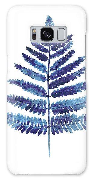 Garden Galaxy Case - Blue Ferns Watercolor Art Print Painting by Joanna Szmerdt