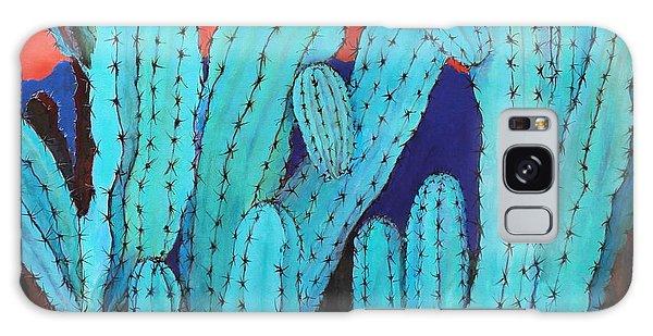 Blue Flame Cactus Acrylic Galaxy Case