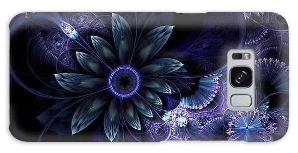 Blue Fleur And Lace Galaxy Case