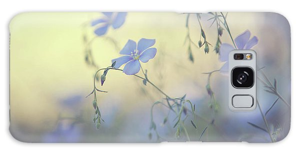 Buy Art Online Galaxy Case - Blue Flex Flower. Nostalgic by Jenny Rainbow