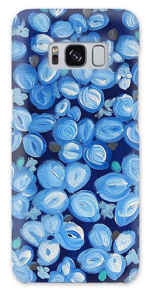 Blue Floral Frenzy Galaxy Case