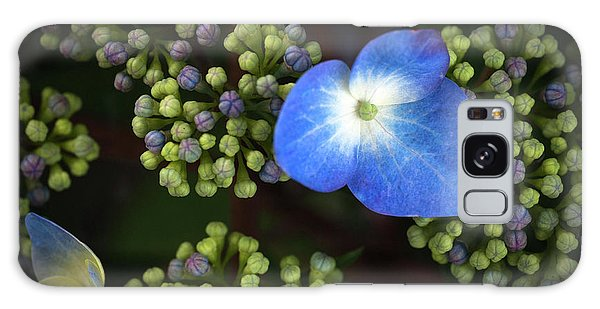 Blue Flower Galaxy Case