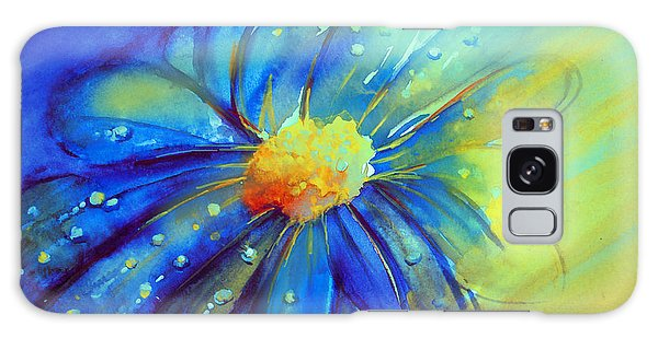 Blue Flower Offering Galaxy Case