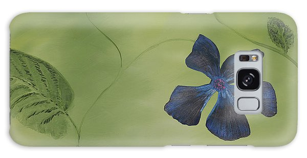 Blue Flower On A Vine Galaxy Case