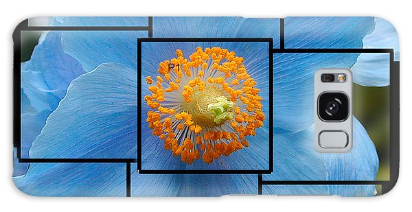 Blue Flower Photo Sculpture  Butchart Gardens  Victoria Bc Canada Galaxy Case