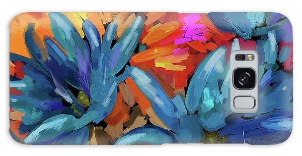 Blue Flowers 2 Galaxy Case