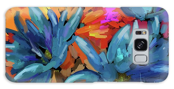Blue Flowers 2 Galaxy Case by DC Langer