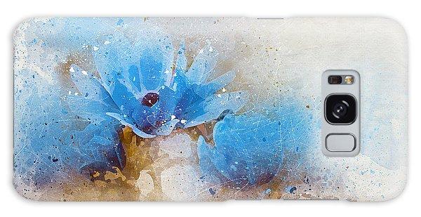 Blue Flowers 4a Galaxy Case