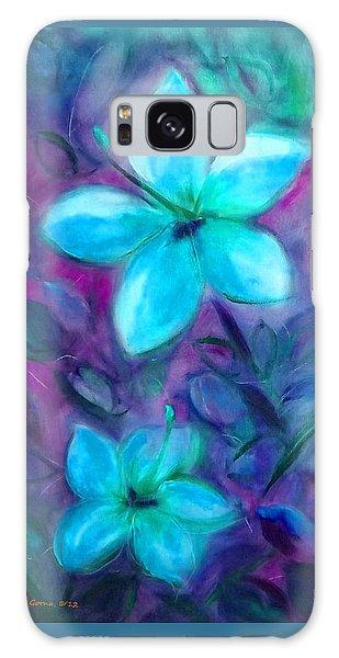 Blue Flowers Galaxy Case