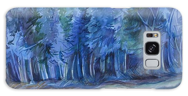 Blue Forest Galaxy Case by Anna  Duyunova