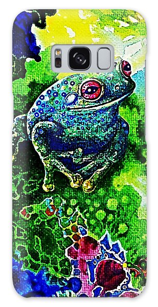Blue  Frog Galaxy Case by Hartmut Jager