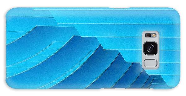 Blue Geometric Abstract 1 Galaxy Case