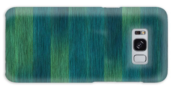 Blue Green Abstract 1 Galaxy Case