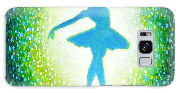 Blue-green Ballerina Galaxy Case
