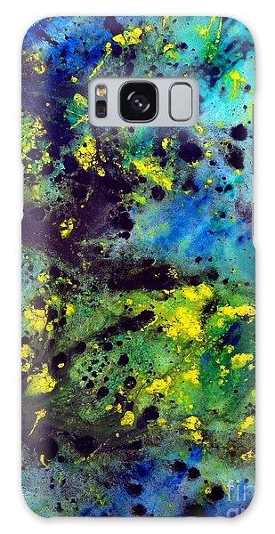 Blue Green Chaos Galaxy Case
