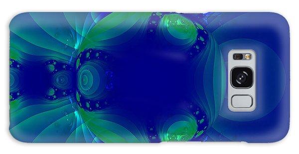 Blue Green Globe Luminant Fractal Galaxy Case