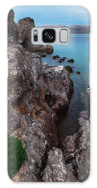 Galaxy Case featuring the photograph Blue, Green, Gray by Davor Zerjav