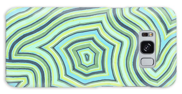 Blue Green Pattern Play Galaxy Case