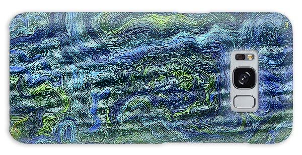 Blue Green Texture Galaxy Case