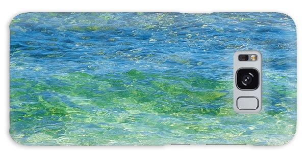 Blue Green Waves Galaxy Case