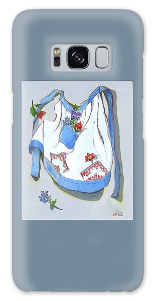 Blue Handkerchief Apron Galaxy Case by Susan Thomas