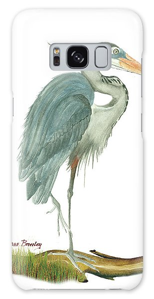 Blue Heron Galaxy Case