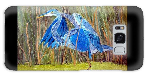 Blue Heron In Viera  Florida Galaxy Case