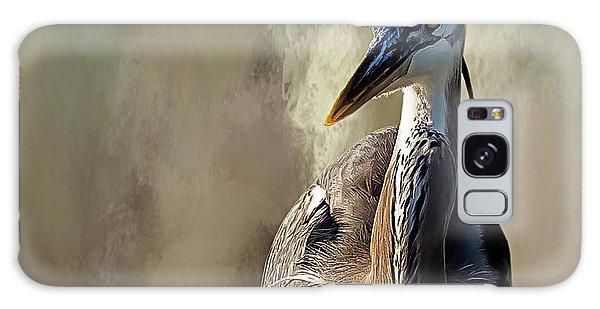Blue Heron Galaxy Case by Cyndy Doty