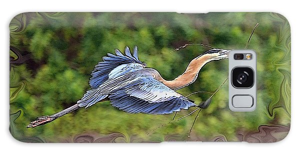 Blue Heron Flight Galaxy Case by Shari Jardina