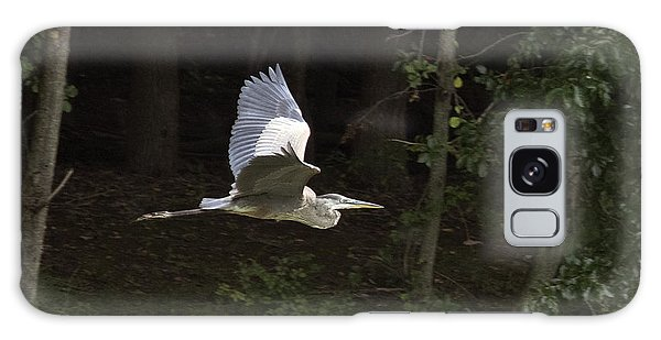 Blue Heron In Flight Galaxy Case