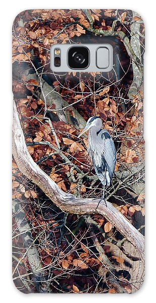 Blue Heron In Tree Galaxy Case