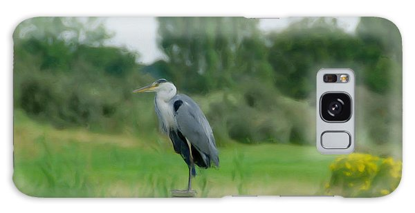 Blue Heron Galaxy Case by Jan Daniels