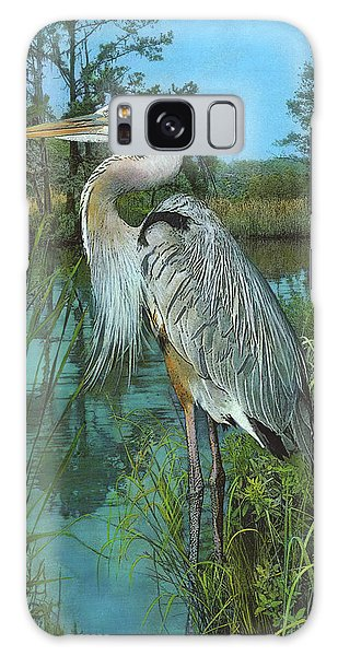 Galaxy Case featuring the painting Blue Heron by John Dyess