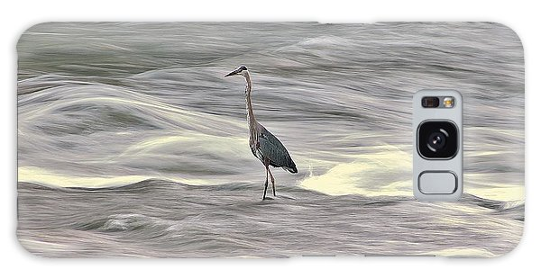 Blue Heron On The Grand River Galaxy Case