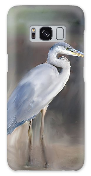 Blue Heron Painting  Galaxy Case