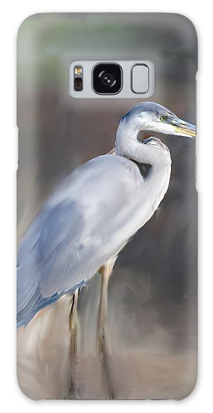 Herons Galaxy Case - Blue Heron Painting  by Don  Wright