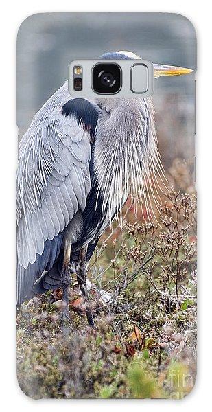 Blue Heron Portrait Galaxy Case by Eddie Yerkish