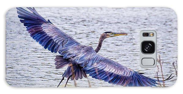 Blue Heron  Take Off  Galaxy Case
