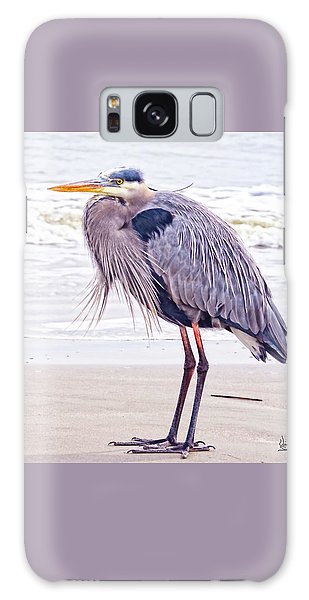 Blue Heron Watching Galaxy Case