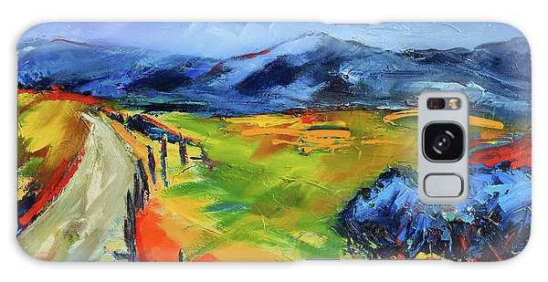 Blue Hills By Elise Palmigiani Galaxy Case