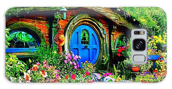 Blue Hobbit Door Galaxy Case