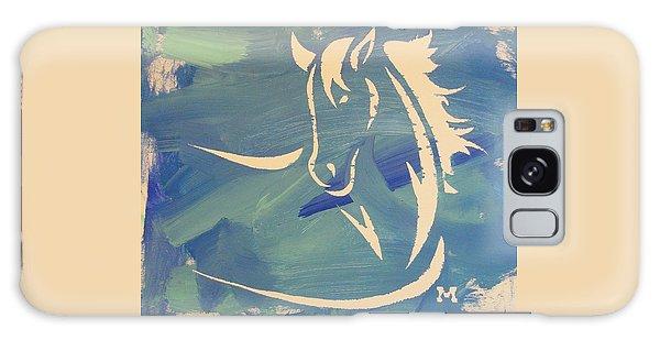 Blue Horse Sky Galaxy Case