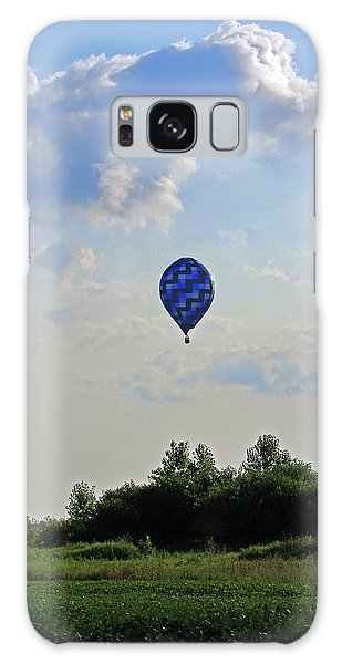 Galaxy Case featuring the photograph Blue Hot Air Balloon by Angela Murdock
