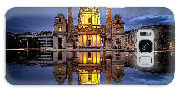 Blue Hour At Karlskirche Galaxy Case