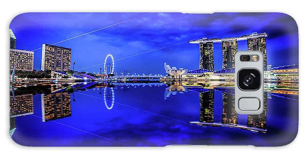 Blue Hour At Marina Bay Galaxy Case